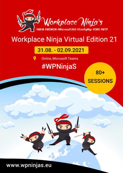 Workplace ninja event flyer